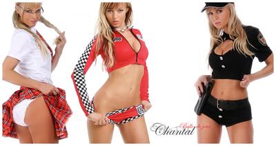 Teilstrip und Vollstrip - Chantal-Strip.com