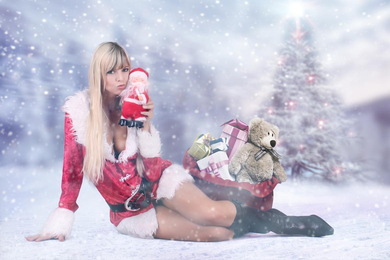 Stripperin als Weihnachtsfrau buchen