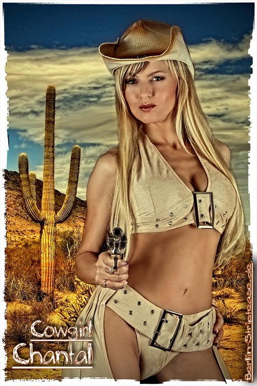Partystrip als Cowgirl